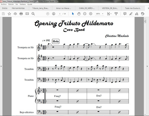 arreglos musicales y transcripciones para orquestas y bandas