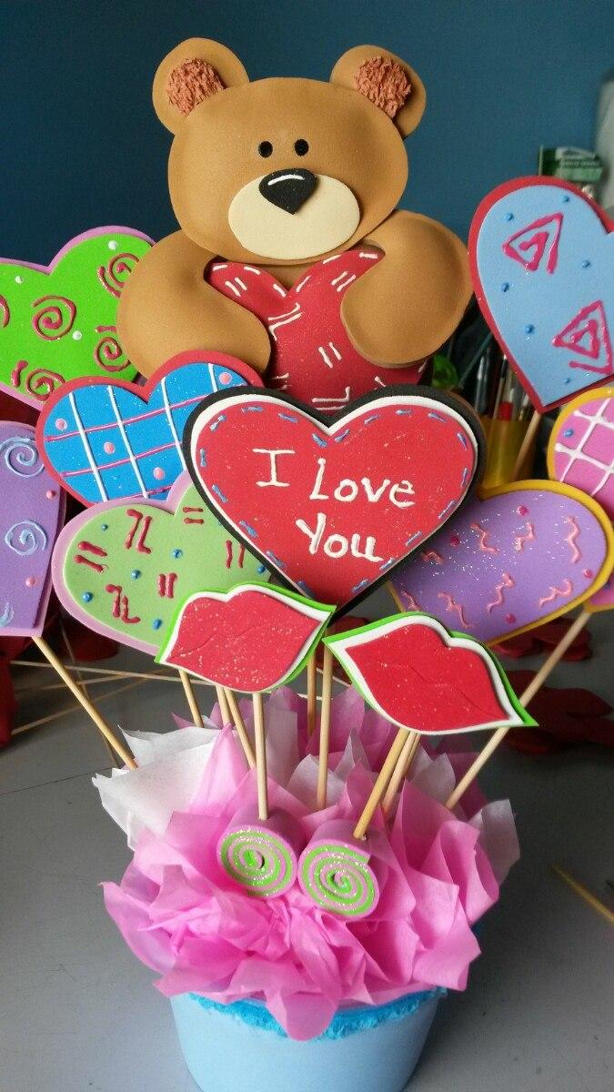 Arreglos san valentin arreglos en foami detalles 14 febrero bs 4 50 en mercado libre - Manualidades para hacer en san valentin ...