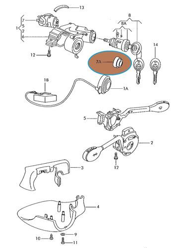 arremate cilindro ignicao gol special g3 original vw