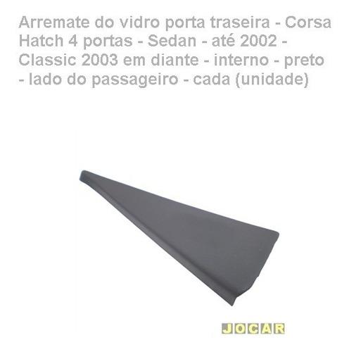 arremate vidro porta tras-classic 2003/-interno-preto-dir