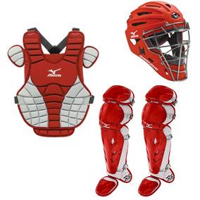 6a41c231febee Arreos Set Equipo Catcher Softbol Mizuno Samurai Rojo Dama