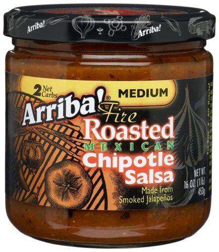 arriba! salsa de chipotle mexicana asada al fuego, mediano,