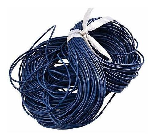 arricraft - cordón de cuero redondo (100 m, piel de vaca, 1,