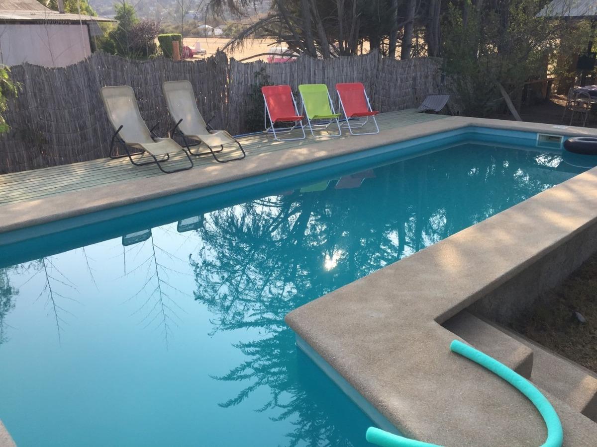 arriendo cabañas olmué, hasta 4 personas, piscina compartida