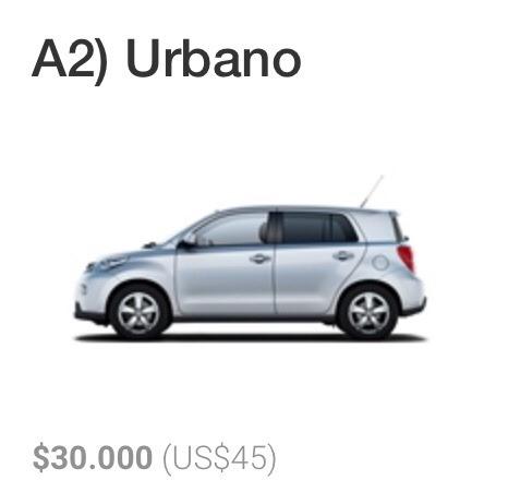 arriendo de autos - rent a car en santiago de chile