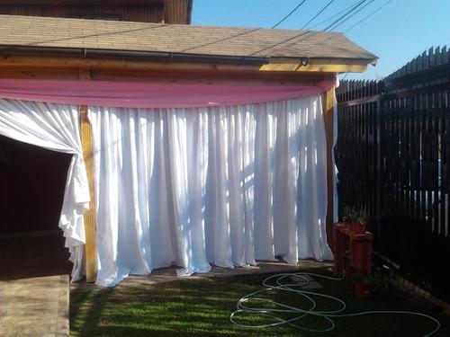 arriendo de carpas, cortinajes, ventiladores, sillas, mesas