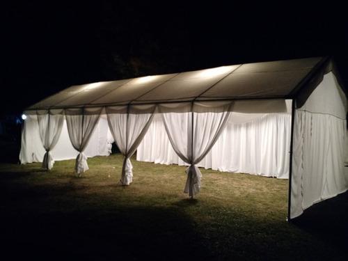 arriendo de carpas, toldos, cortinas y decoraciones