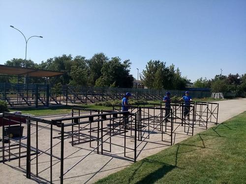 arriendo de escenarios y pasarelas modulares