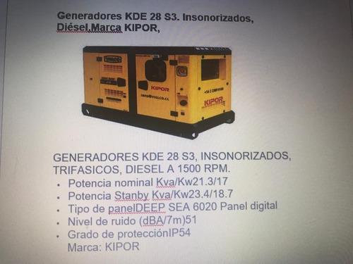 arriendo de generadores kde 28 s3