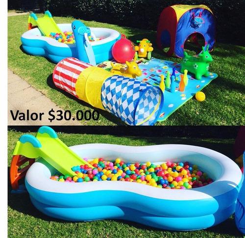 arriendo de juegos inflables, piscina con pelotas