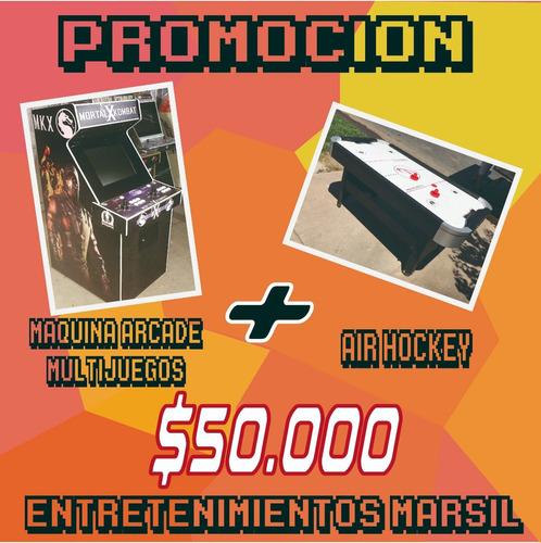 arriendo de juegos maquinas arcade air hockey taca taca