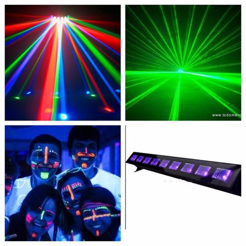 arriendo de luces flúor discopeque proyector  karaoke