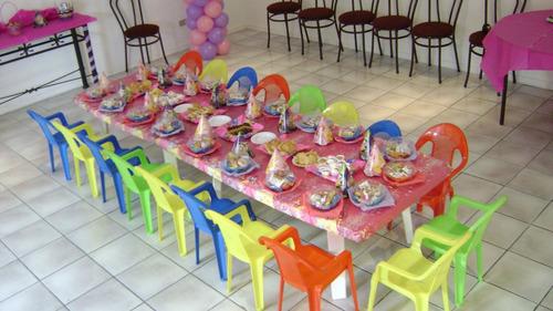 arriendo de mesas y sillas para cumpleaños infantiles