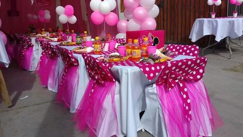 arriendo de mesas,sillas para cumpleaños,minie y mickey