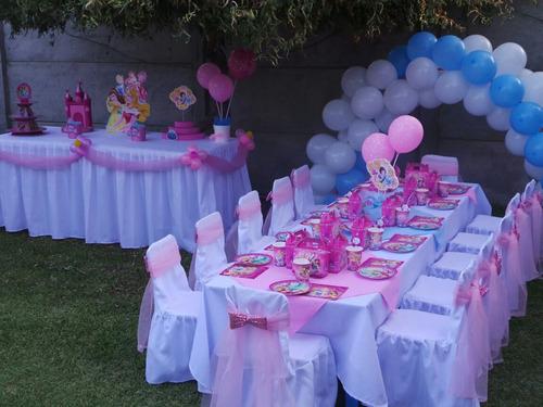 arriendo de sillas y mesas para cumpleaños infantil
