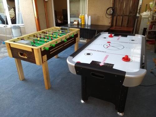 arriendo de taca taca, mesa de air  hockey, arcade