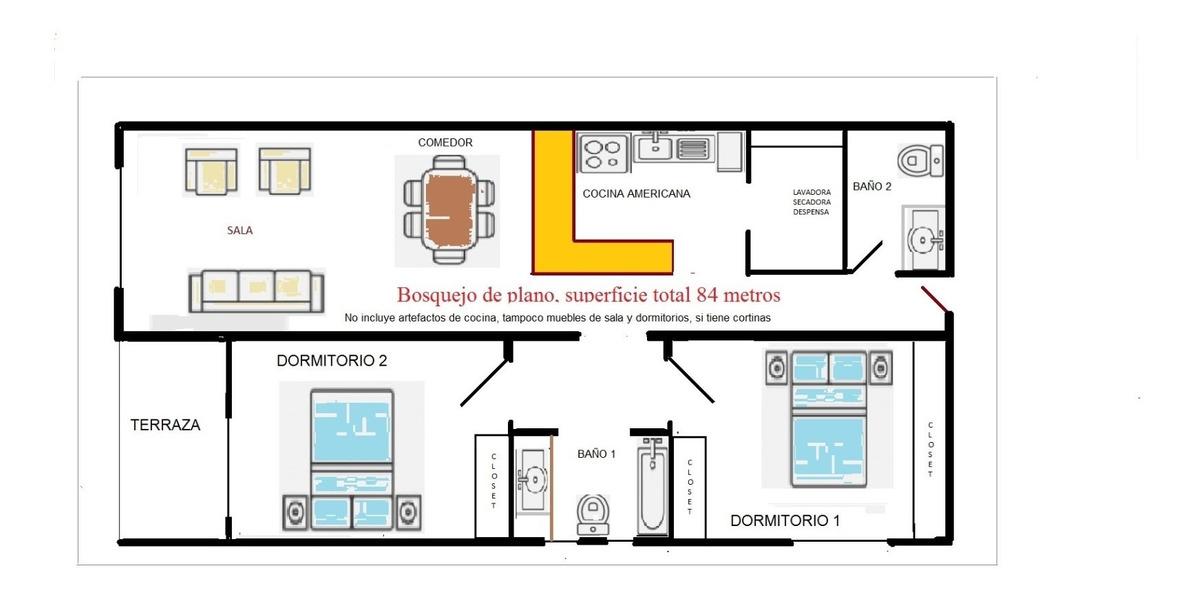 arriendo departamento 2 dormitorios cumbaya la comarca usq