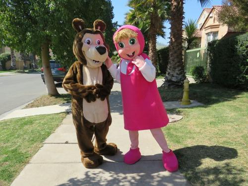 arriendo disfraz corporeo de minnie, mickey, masha y el oso