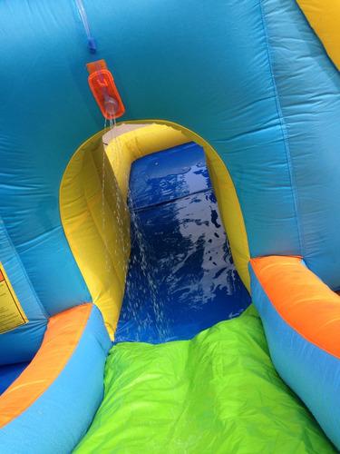 arriendo entretenido inflable acuático dos toboganes