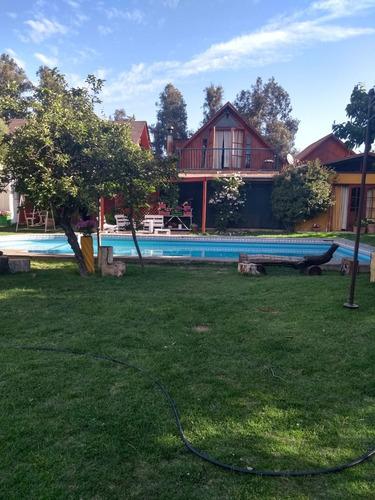 arriendo hermosa parcela con piscina para grupos pequeños, c