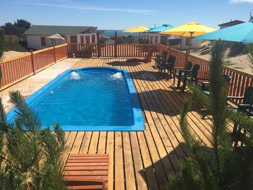 arriendo hermosas cabañas con piscina en el tabo 6 personas