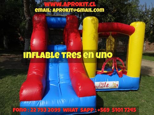 arriendo juegos inflables  aprokit traslado gratuito ñuñoa