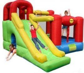 arriendo juegos inflables piscina con pelotitas manteleria