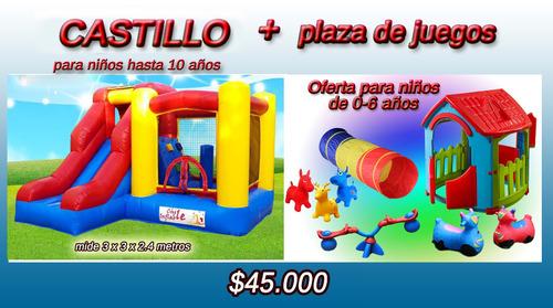 arriendo juegos inflables y plaza de juegos