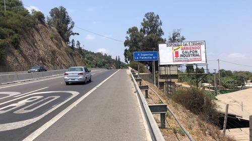 arriendo letrero publicitario ruta 60 camino internacional