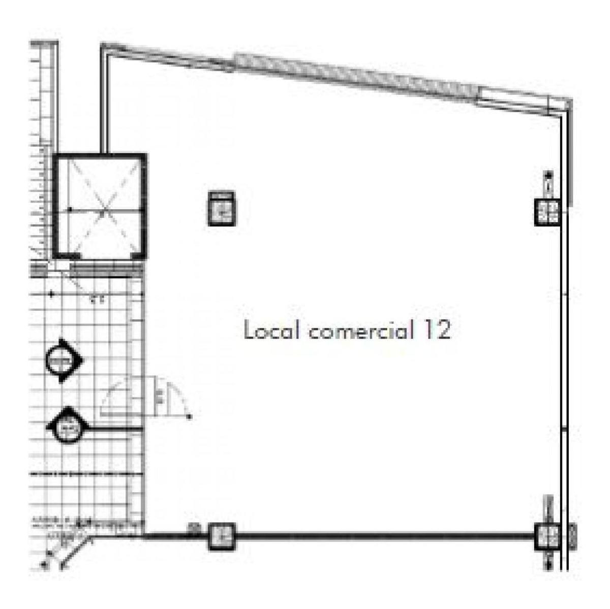 arriendo local comercial - strip center el alba, las condes - 122,4m2