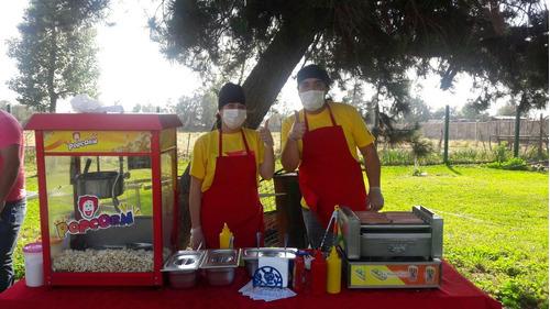 arriendo máquina hot dogs,cabritas, algodon, juego inflable