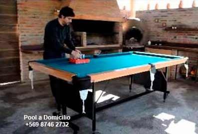arriendo mesa de pool a domicilio, arriendo pool