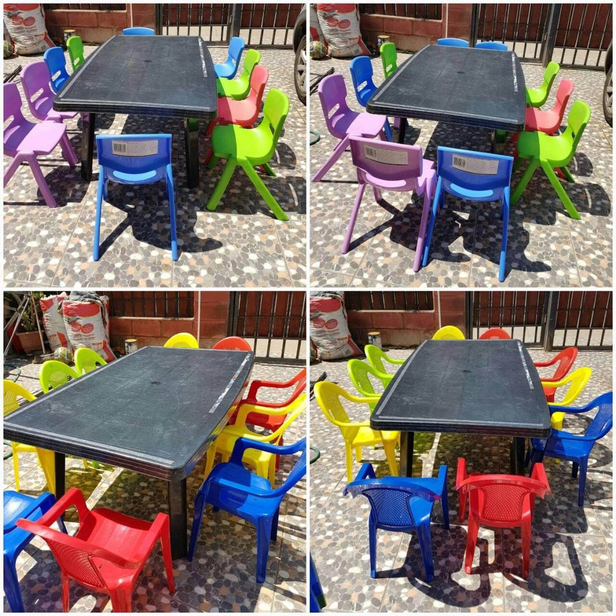 Arriendo mesas sillas cumplea os infantiles en for Mesas cumpleanos infantiles