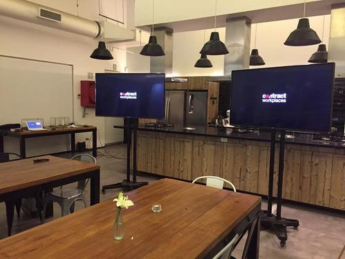 arriendo pantallas tv lcd-led de 40 a 55  pulgadas + atril
