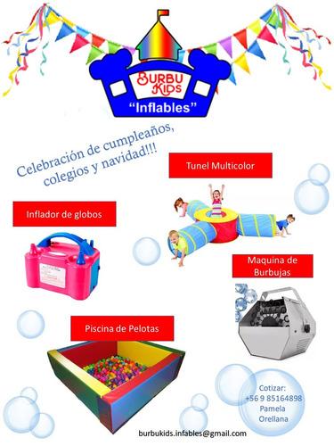 arriendo piscina de pelotas +tunel + maquina burbujas!