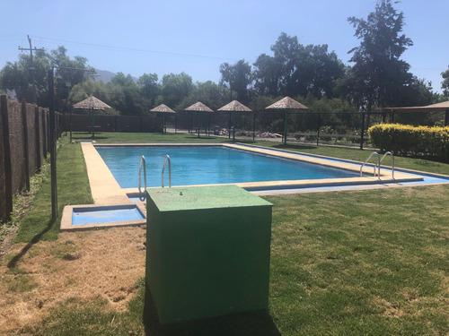 arriendo piscina en parcela de batuco