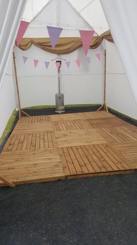 arriendo pista de baile en madera deck.
