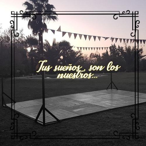 arriendo  pistas de baile, equipamiento para bodas y eventos