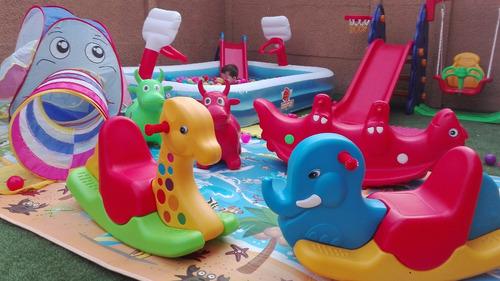 arriendo plaza de juegos enanitos de colores