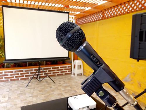 arriendo proyector data show iluminación karaoke