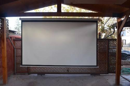 arriendo proyectores data show hd con telón e instalación