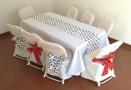 arriendo sillas, mesas y manteleria