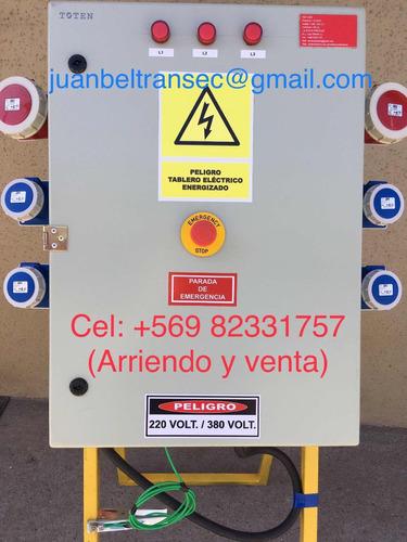 arriendo tablero eléctrico faena certificado