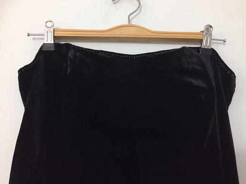 arriendo vestido fiesta terciopelo elástico negro
