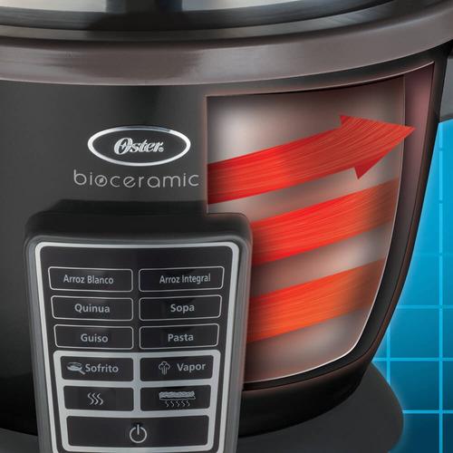 arrocera multifunción oster® negra con 10 funciones automáti