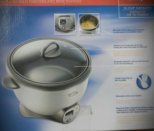 arrocera oster de 10 tazas multi usos con función(tienda fís
