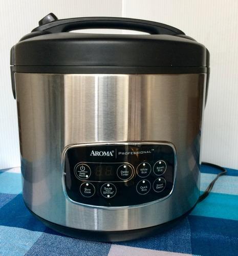 arrocera vaporera de cocción lenta marca aroma professional