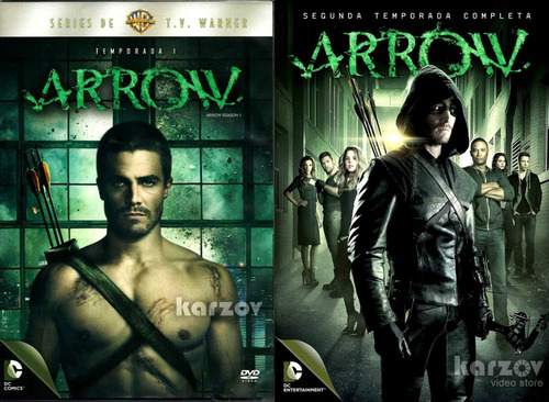 arrow paquete temporadas 1 y 2 serie de tv dvd