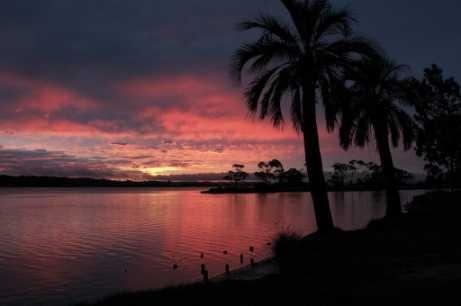 arroyo maldonado - puesta de sol - lámina 45x30 cm.