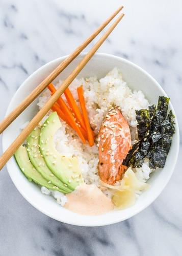 arroz japonés cocido para hacer sushi 210g